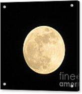 Moon In Galaxy Venus Acrylic Print
