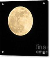 Moon In The Galaxy Mars Acrylic Print