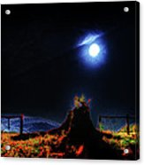 Moon Lite In Hdr Acrylic Print