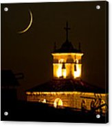 Moon On The Cathedral - Luna Sobre La Catedral Acrylic Print