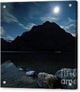 Moon Over Bow Acrylic Print