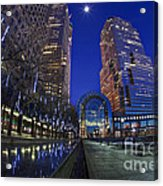 Moon Over Financial Center Acrylic Print