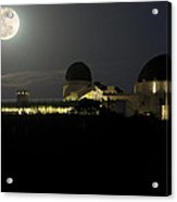 Moon Over Griffith Observatory Acrylic Print
