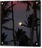 Moon Over Hawaii Acrylic Print