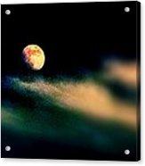 Moon Over Isla Mujeres Acrylic Print