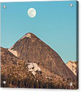 Moon Over Sierra Peak Acrylic Print