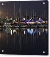 Moon Over The Marina Acrylic Print