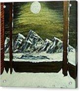Moon Over The Mountains Acrylic Print