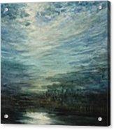 Moon Shimmer Acrylic Print by Estephy Sabin Figueroa