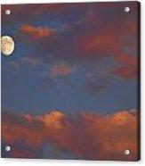 Moon Sunset Acrylic Print