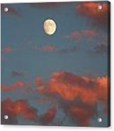 Moon Sunset Vertical Image Acrylic Print