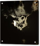 Moonglow Reveals Face In The Cloud Acrylic Print