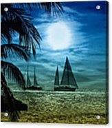 Moonlight Sail - Key West Acrylic Print