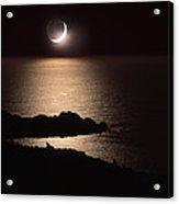 Moonlit Coast Acrylic Print