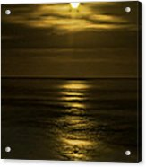 Moonlit Pacific Acrylic Print by Dale Stillman