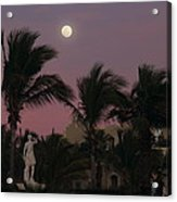 Moonlit Resort Acrylic Print
