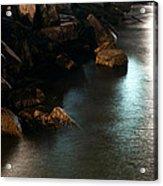 Moonlit Rocks Acrylic Print