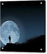Moonlit Solitude Acrylic Print