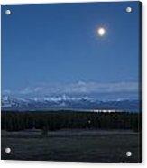 Moonrise At Fishing Bridge Acrylic Print