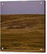 Moonrise Over Badlands South Dakota Acrylic Print