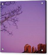 Moonrise Over Oak Creek Canyon Acrylic Print