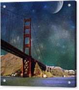 Moonrise Over The Golden Gate Acrylic Print