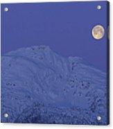 Moonset At Dawn Acrylic Print