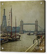 Moored Thames Barges. Acrylic Print
