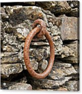 Mooring Ring And Rust Acrylic Print