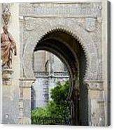 Moorish Arch Of The Giralda In Seville Acrylic Print