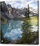 Moraine Lake In The Valley Of The Ten Acrylic Print