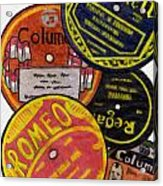 More Old Record Labels  Acrylic Print