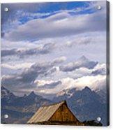 Mormon Barn Morning Acrylic Print by Joseph Rossbach
