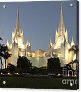 Mormon Cathederal San Diego 2 Acrylic Print