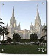 Mormon Cathederal San Diego Acrylic Print