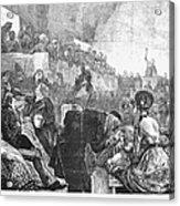 Mormon Service, 1871 Acrylic Print