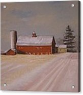 Morning After Heavy Snow Acrylic Print by Mark Haley