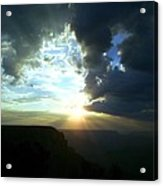Morning Breaks At The Canyon Acrylic Print