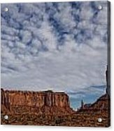 Morning Clouds Over Monument Valley Acrylic Print