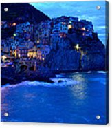 Morning In Manarola Acrylic Print by Barbara Walsh