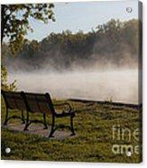 Morning Mist Over The Hudson River Acrylic Print