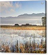 Morning Mists Of Cutler Marsh - Utah Acrylic Print