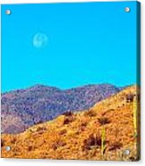 Morning Moon In Baja Acrylic Print