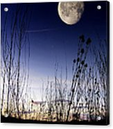 Morning Moonscape Acrylic Print
