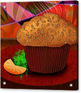 Morning Muffin Acrylic Print by Melisa Meyers
