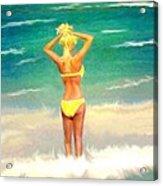 Morning On The Beach 2 Acrylic Print