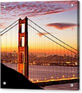 Morning Over San Francisco Acrylic Print