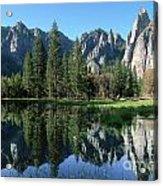 Morning Reflection At Yosemite Acrylic Print
