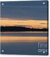 Morning Sun Rising At Arctic Sea Acrylic Print