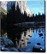 Morning Sunlight On El Cap Acrylic Print